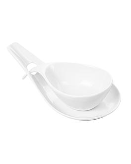bols soupe avec sauciÈre 18x8,6x4,3 cm blanc porcelaine (6 unitÉ)