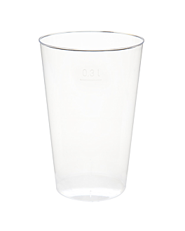 injected glasses 300 ml Ø 7,8x11,8 cm clear ps (500 unit)