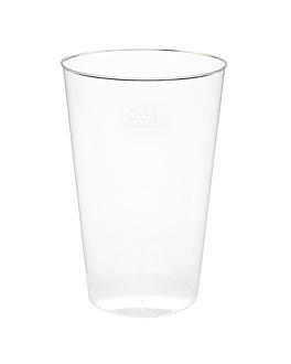verres injectÉs 300 ml Ø 7,8x11,8 cm transparent ps (500 unitÉ)