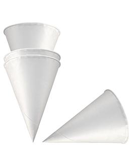 conos agua 120 ml 70 g/m2 Ø 6,4x8,7 cm blanco papel (5000 unid.)