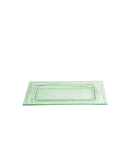 plate 30,5x20 cm green glass (3 unit)