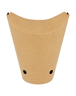 vasos fritas con cierre 12 oz - 360 ml 200 + 25pe g/m2 6,7x12,5 cm marrÓn cartoncillo (2500 unid.)