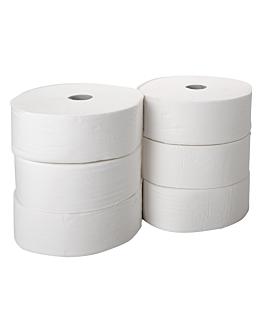 """hygiÉniques """"maxi jumbo""""-""""i-one"""" ecolabel 1p-2012 feuilles 30 g/m2 Ø 26x9,6 cm blanc ouate (6 unitÉ)"""