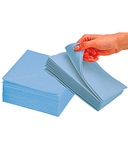 "30 u. wipes ""topblue"" 75 gsm 30x40 cm sky blue airlaid (1 unit)"