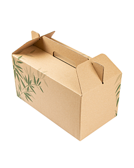 cases for take away meals 'feel green' 24,5x13,5x12 cm brown cardboard (100 unit)