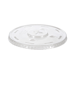 lids with straw hole fore 178.17  clear pet (1000 unit)