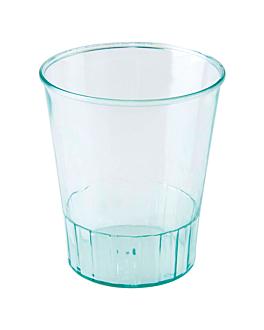 mini vasos inyectados 60 ml Ø 4,8x5,6 cm verde agua ps (500 unid.)