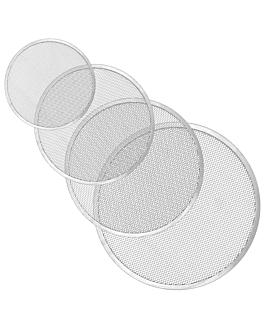 aro enrejado pizza Ø 25 cm plateado aluminio (1 unid.)