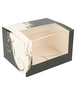 boÎtes pÂtisseries avec fenÊtre 275 g/m2 11x13x8 cm blanc carton (50 unitÉ)