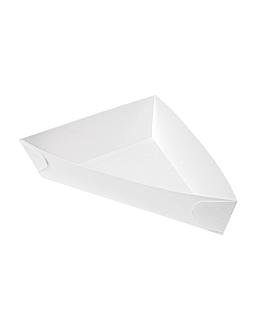 triangular containers 'thepack' 230 gsm 14,5x19x3,5 cm white nano-micro corrugated cardboard (400 unit)