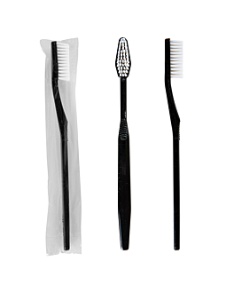 cepillos dentales enfundados 15,5x1x1,5 cm negro ps (100 unid.)