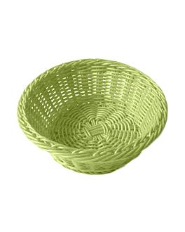 corbeilles similaire osier rondes Ø 20x8 cm vert anis pp (12 unitÉ)
