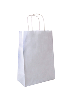 sos bags with handles 80 gsm 26+14x32 cm white cellulose (250 unit)