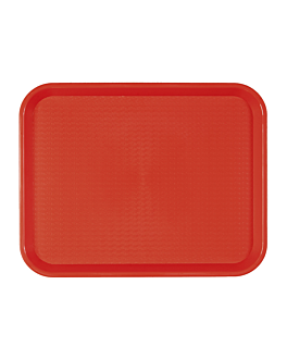 fast food tray 30,4x41,4 cm red pp (1 unit)