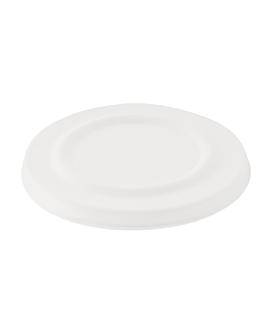 couvercles pour code 150.64 'bionic' Ø 11 cm blanc bagasse (600 unitÉ)