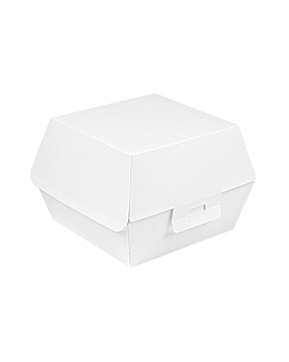conchas hamburguesa 'thepack' 230 g/m2 15,5x14,5x9,5 cm (l+) blanco cartÓn ondulado nano-micro (500 unid.)
