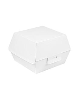 caixes hamburguesa 'thepack' 230 g/m2 14,4x13,6x9,2 cm (l+) blanc cartrÓ ondulat nano-micro (500 unitat)