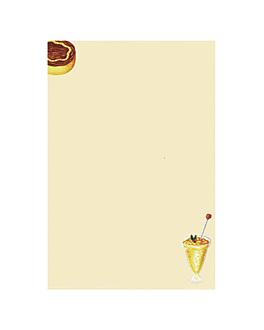 "hojas din a-4 ""postres"" 21x29,7 cm crema papel (100 unid.)"