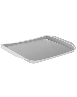 serving tray l 35,6x24,4x2,4 cm silver stainless steel (12 unit)
