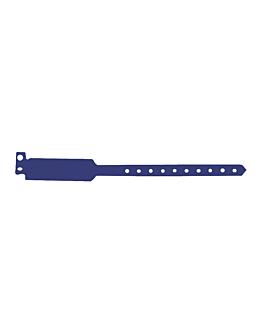 braccialetti non trasferibili 25 cm blu pvc (100 unitÀ)