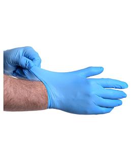 guantes size: m azul nitrilo (100 unid.)