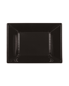25 e. rechteckige tabletts 23x33x2,4 cm schwarz ps (20 einheit)