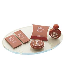 oval tray for amenities prod. 28x18x0,6 cm clear acrylic (1 unit)