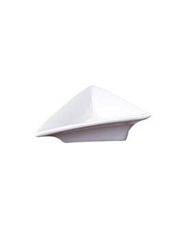 recipientes triangulares 7,5x7,5x2,4 cm blanco porcelana (12 unid.)