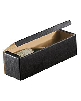 100 u. coffrets 1 bouteille 34x9x9 cm noir carton (1 unitÉ)