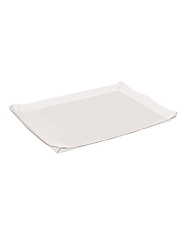 self-service tray corrugated 24x31 cm white microcanal (50 unit)