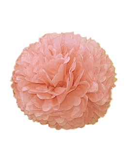 pom pom flower Ø 48 cm rosa (10 unid.)