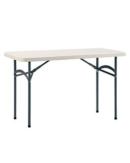 rectangular folding table 183x76x74 cm cream pe (1 unit)