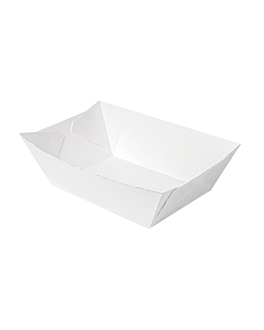 containers 'thepack' 1200 g 230 gsm 11,9x7,9x5,5 cm white nano-micro corrugated cardboard (1000 unit)