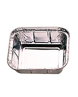 recipientes rectangulares 450 ml 14,4x11,9x4 cm aluminio (100 unid.)