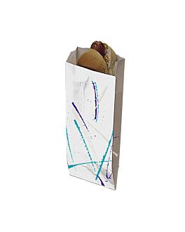 """hot dog bags """"volare"""" 35 gms 7+5x18 cm silver parchment+aluminium (500 unit)"""