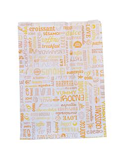 bolsas croissants 'parole' 35 g/m2 26+8x35 cm blanco celulosa (250 unid.)