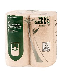 2 e. kÜchenrollen 2-lagig 'feel green' 23 g/m2 26 cm x 40 m natur recycelt papier (1 einheit)