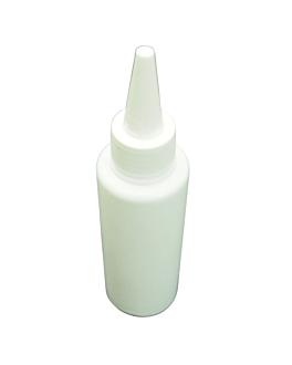 mini distributeur de sauces 30 ml Ø 2,8x10,5 cm blanc pehd (10 unitÉ)