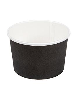 ice-cream tubs 120 ml 210 + 18pe gsm Ø 7,7x4,7 cm black cardboard (2000 unit)
