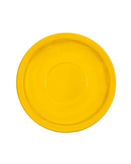 platillos cafÉ Ø 13,8 cm amarillo melamina (12 unid.)