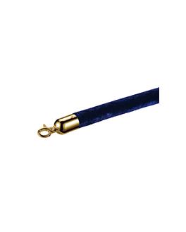 cordon colonne mobile or Ø 3,2x150 cm bleu velours (1 unitÉ)