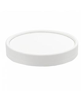 couvercles pots À glaces 180 ml 280 + 18 pe g/m2 Ø8,7 cm blanc carton (1000 unitÉ)