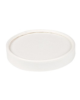 lids for ice-cream tubs 180 ml 280 + 18 pe gsm Ø8,7 cm white cardboard (1000 unit)