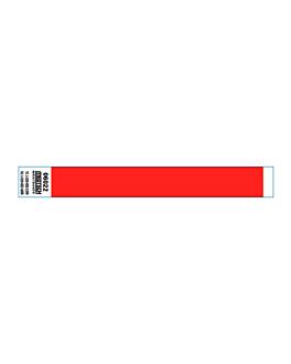 braccialetti non trasferibili adesivo 2x25,5 cm rosso pvc (1000 unitÀ)