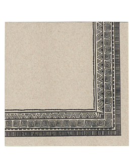 ecolabel napkins 'double point - nairobi' 18 gsm 40x40 cm natural recycled tissu (1200 unit)