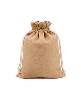 48 u. sacchetti con cordone 12,5x17 cm naturale iuta (1 unitÀ)