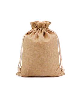 48 u. bags with ribbon 12,5x17 cm natural jute (1 unit)