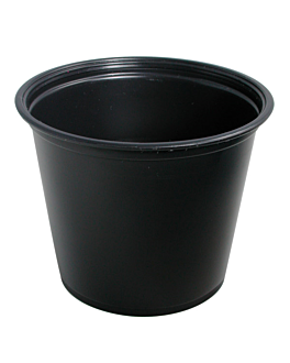 small microwavable containers 165 ml Ø7,4x6 cm black pp (2500 unit)
