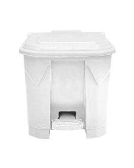 container with lid 30 l 43x40x43 cm white pp (1 unit)