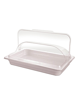 dome cover 1/1 gn 53,5x33,8x14 cm clear polycarbonate (1 unit)